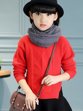 Ericdress Weave Knitting Side Split Girls Top