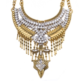 Ericdress Retro Zircon Inlaid Bronze Necklace