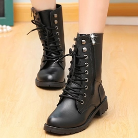 Ericdress Cool PU Lace up Ankle Boots