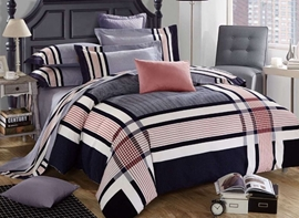 Ericdress Cozy Plaid Cotton Bedding Sets