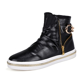 Ericdress Chic High Cut Side Zip Men's Boots