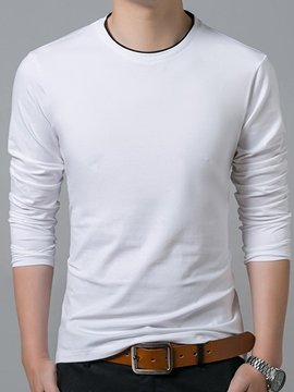 Ericdress Plain Slim Men's Sweater