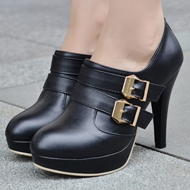 Ericdress Cool Round Toe Buckles Pumps