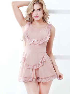 Ericdress Lace Patchwork Sexy Backless Babydoll