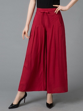 Ericdress Chinese Ethnic Style Wide Legs Pants