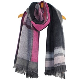 Ericdress Long Geometry Design Fringed Scarf