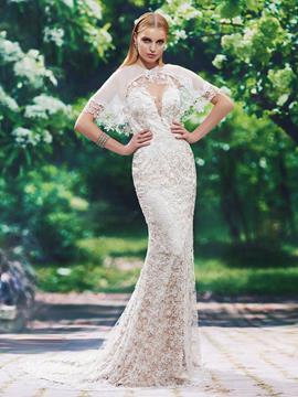 Ericdress Fancy Back Lace Mermaid Wedding Dress