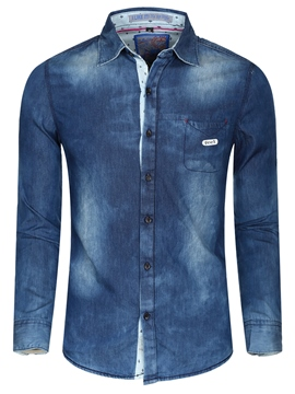 Ericdress Long Sleeve Denim Casual Men's Shirt