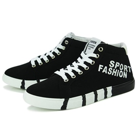 Ericdress High Top Letter Print Men's Canvas Shoes
