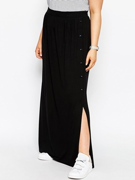Ericdress Plus Size Split Maxi Skirt