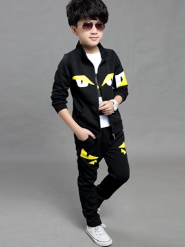 Ericdress Printing Solid Color Sport Stand Color Three-Piece Boys Outfit
