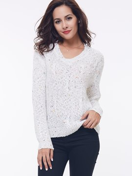 Ericdress Loose V-Neck Knitwear