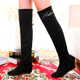 Ericdress Pretty Girl Rhinestone Decorated Knee High Boots