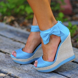 Ericdress Pretty Girl Bowknot Wedge Sandals