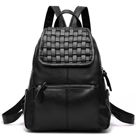 Ericdress Simple Knitted Patchwork Backpack