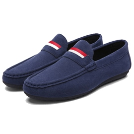 Ericdress Thread Stripe Slip-On Men's Moccasin Gommino
