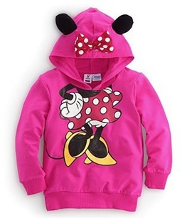 Ericdress Micky Pattern Hooded Girls Top