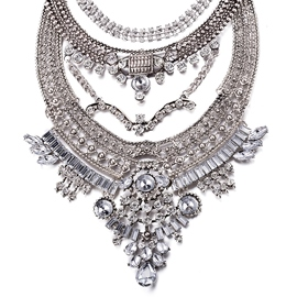 Ericdress Shining Crystal Inlaid Alloy Necklace
