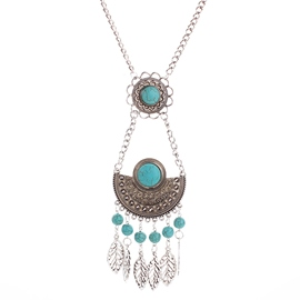 Ericdress Alloy Hollow Leaves Tassel Necklace