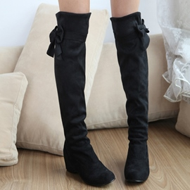 Ericdress Sweet Bowtie Elevator Heel Knee High Boots