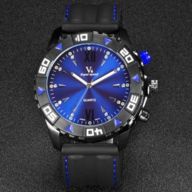 Ericdress Double Scale Luminous Design Men's Watch