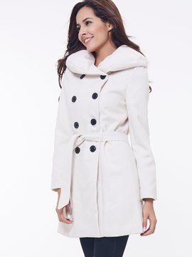 Ericdress Heap Collar Wool Blends Coat