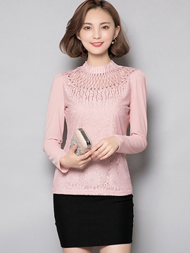 Ericdress Tutle Neck Embroidery T-Shirt