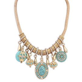 Ericdress European Style Blue Beading Necklace