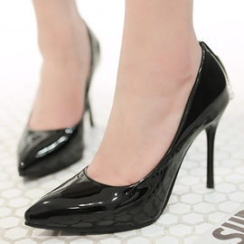 Ericdress OL Patent Leather Point Toe Pumps