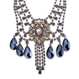 Ericdress Water Droplets Sapphire Pendant Necklace