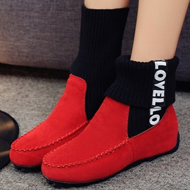 Ericdress Kintting Patchwork Ankle Boots