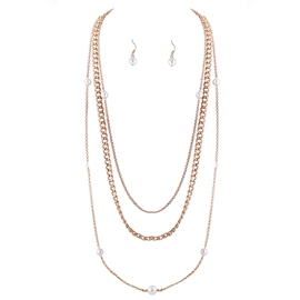 Ericdress Multilayer Alloy Chain Pearl Jewelry Set