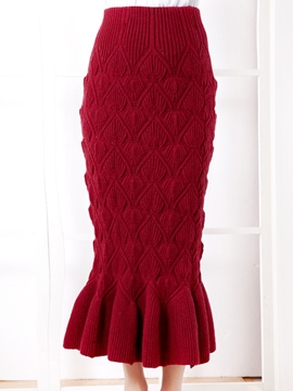 Ericdress Sweet Knitted Mermaid Skirt