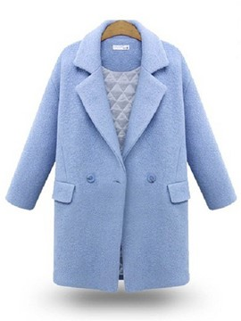 Ericdress Loose Polo Plus Size Coat