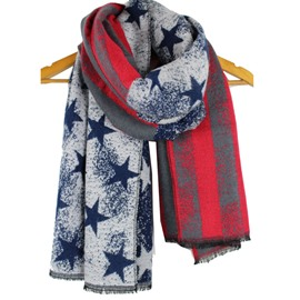 Ericdress Five-Pointed Star Pattern Cashmere Scarf