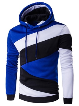 Ericdress Color Block Casual Look Pullover Men's Hoodie