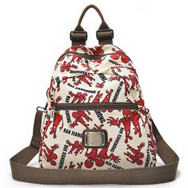 Ericdress Casual Print Canvas Backpack