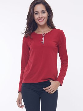Ericdress Round Neck Sheath T-Shirt