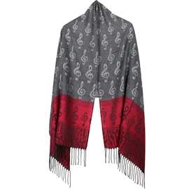 Ericdress Music Note Jacquard Scarf