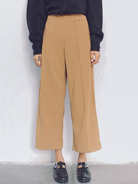 Ericdress Solid Color Casual Wide Legs Pants