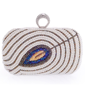Ericdress Color Block Pearl Decorated Evening Clutch