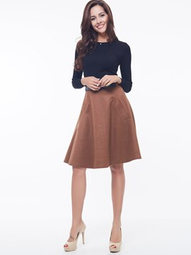 Ericdress Vintage Simple Skirt Suit