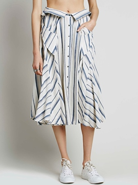 Ericdress Unique Stripe Skirt