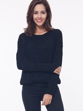Ericdress Casual Solid Color Loose Simple Knitwear