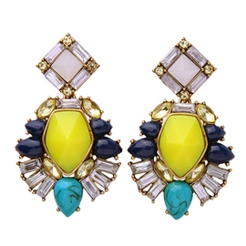Ericdress Colorful Artificial Gemstone Earrings