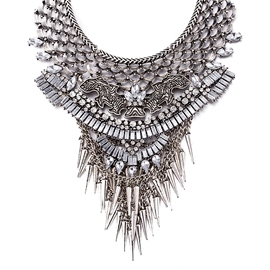 Ericdress Antique Silver Rivets Designed Necklace
