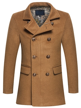 Ericdress Double-Breasted Vogue Slim Men's Woolen Coat