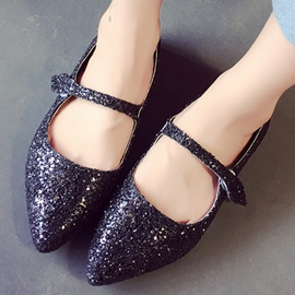 Ericdress Sequins Point Toe Flats