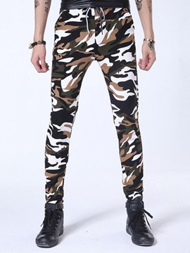 Ericdress Mid-Waist Camouflage Casual Men's Pencil Pants