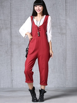 Ericdress Simple Casual Jumpsuits Pants